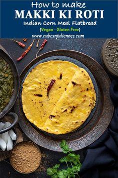 Best Makki Ki roti recipe with step by step photos of 3 easy method, amazing tips and tricks. Typically served with sarson ka saag, makki di roti is a traditional Punjabi recipe of unleavened flatbread made using corn meal or makki ka atta (maiza flour) Corn Flour Recipes, Cornmeal Recipes, Snack Recipes, Cooking Recipes, Veggie Recipes, Vegetarian Recipes, Snacks, Roti Recipe Indian, Atta Recipe