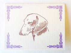 Dachshund letterpress note card