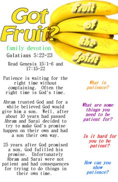 Printable fruit of the spirit family devotion