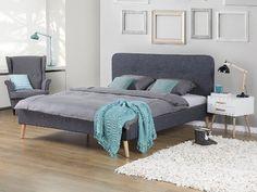Amazon.de: Bett Grau   Doppelbett 160x200 Cm   Ehebett   Polsterbett    RENNES