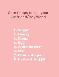 Cute nicknames for your significant other