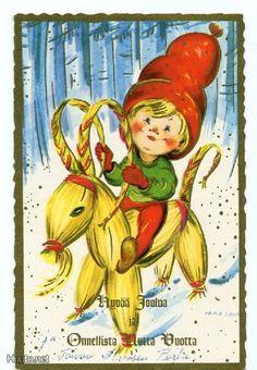 Irma Salmi Scandinavian Christmas, Illustrations And Posters, Visual Arts, Jingle Bells, Yule, Gnomes, Elves, Finland, Norway