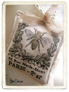 sachet, but a cute idea for a Bee card with French Themed stamps