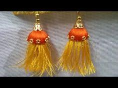 How to make bridal saree kuchu with jhumkas l latest saree tassels l DIY l saree kuchu design # 21 - YouTube