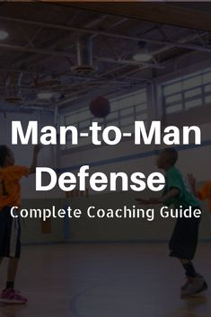 The man-to-man defense is the most common defense at all levels of basketball. Check out this complete word guide on how to run it! Basketball Training Drills, Basketball Tricks, Basketball Practice, Basketball Plays, Basketball Workouts, Basketball Skills, Basketball Quotes, Basketball Coach, Basketball Hoop