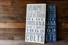 Indianapolis Colts Distressed Wood SignGreat by SportsSigns