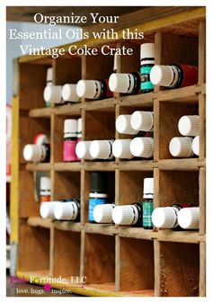 Are your essential oils all over the place? Are you looking for some clever organization ideas for them? This vintage Coca Cola crate is the perfect solution to organize your essential oils! Chamomile Oil, Chamomile Essential Oil, Abundant Health, Vintage Coke, Makeup Organization, Closet Organization, Young Living Essential Oils, Coca Cola, Crates