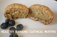 Healthy Banana Oatmeal Muffins. Simple...tasty...and toddler approved! Plus it's made with no flour ;)