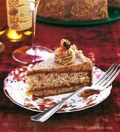 Hazelnut Torte Hungarian Hazelnut Torte Recipe   Epicurious.com