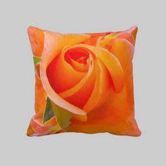 #Orange #Rose #pillow #linandara