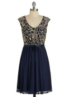 Evening Haute Cocoa Dress. Youre known for putting unique spins on classics, which is why you don this luxe, lace dress for a look that amazes at your dinner party. #blueNaN