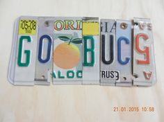 Go Bucs License Plate Sign Tampa Bay by TreasuredSunsets on Etsy