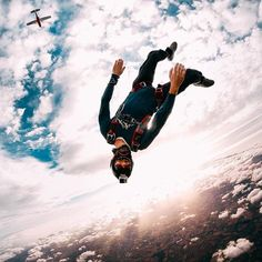 Photo of the Day! Yann Guilloton enjoys his #humpday upside down. #GoPro #Skydive #GoProFR