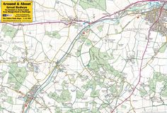 Great Bedwyn & the Kennet & Avon Canal from Hungerford to Burbage - front of the map