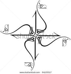 Allahu Akbar . arabic calligraphy which mean God is Great