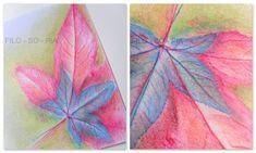 P rime foglie d'autunno e voglia di frottage . Qualche matita colorata (benissimo anche i pastelli a cera) , carta, gomma e ...