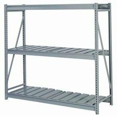 "Bulk Storage Rack Starter, 3 Tier, Ribbed Decking, 96""Wx36""Dx60""H Blue by LYON WORKSPACE PRODUCTS. $522.00. Bulk Storage Rack Starter, 3 Tier, Ribbed Decking, 96""Wx36""Dx60""H Blue Heavy gauge steel uprights and beams. Adjustable on 1-1/2"" centers. 1650-3300 lbs. capacity per pair of beams. Weight Capacity based on evenly distributed load. 10,000 lbs. per upright assembly."