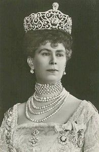 Mary Prinzessin von Teck was born on 26 May 1867 at Kensington Palace. She was the daughter of Franz Paul Karl Ludwig Alexander Herzog von Teck and Mary Adelaide Wilhelmina Elizabeth Hanover, Princess of Cambridge. She was baptised on 27 July 1867 at St. James's Palace, Chapel Royal.  She married George V Windsor, King of the United Kingdom on 6 July 1893 at St. James's Palace, Chapel Royal. She died on 24 March 1953 at age 85.