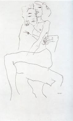 Egon Schiele- Just a few lines and beauty is created.