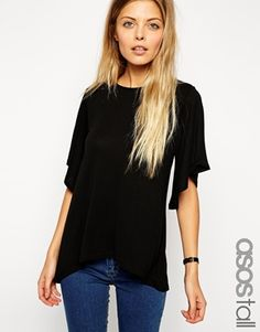ASOS+TALL+Top+With+Frill+Sleeve