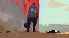 To The Vanishing Point: The Obscure Broken Worlds Of Artist Sergey Kolesov Character Design Animation, Character Art, Painting Inspiration, Art Inspo, Sergey Kolesov, Horror Pictures, Vanishing Point, Matte Painting, Photoshop