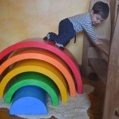 XXL Rainbow Tunnel Set - Furniture - Grimms Spiel & Holz