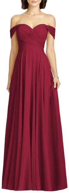 ecf8fbbca91 Burgundy Collection Style 2970 Lux Off The Shoulder Chiffon Gown Formal  Dress