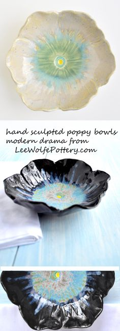 poppy bowls from Lee Wolfe Pottery