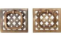 Oh my the most awesome hardware - Vintage Brass Cabinet Pulls, Pair