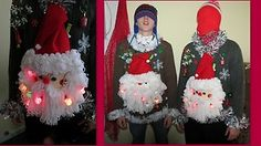 Oh HO Santa Baby Matched Set Light Up Ugly Christmas Sweaters XL L His Hers | eBay