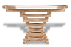 TABLE 'ALTAAR'  CAREFULLY SELECTED OAK WOOD TOGETHER WITH A BRONZE TABLETOP. MADE BY HAND AT THE VELUWE (DUTCH COUNTRYSIDE). WORLDWIDE DELIVERY. AVAILABLE IN SEVERAL SIZES. OTHER COLOURS ON REQUEST.  MATERIAL OAK WOOD, GLASS DIMENSION 110 X 110 X 76 CM - 220 X 110 X 76 CM DESIGN JOOST VAN VELDHUIZEN
