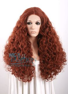 """18""""-28"""" Long Curly Reddish Brown Lace Front Wig - Vána"""
