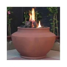 DIY cement or clay pots - take the canistor out of a cheap tiki torch - fill the pot 3/4 of sand and the top with lava rocks around the can. my friend did this and it was amazing I will do it soon