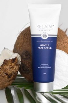 """5 Star Review 🌟🌟🌟🌟🌟   Kelapa Organics Gentle Face Scrub -   """"One of my favorite products from the brand Love this product. I use it every other day to freshen up in the mornings, and leaves my skin soft and thoroughly clean. It's never given me a break-out."""" -  Ivana Organic Face Products, Organic Skin Care, Rose Oil, Organic Coconut Oil, Aloe Vera, Mornings, Scrubs, Leaves, Star"""