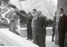Ms Ley with daughter, dr. Robert Ley, The Führer, Gauleiter Wagner, Martin Bormann and Julius Schaub