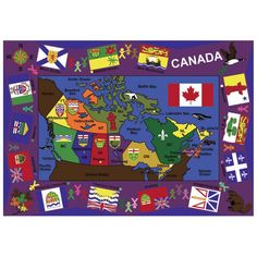 Joy Carpets Flags of Canada Area Rug - 1455-C