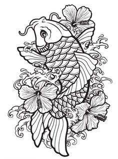Japanese Tattoos 307933693271419119 - Coloriage poisson carpe koi coloriage Source by egoraszewska Japanese Koi Fish Tattoo, Koi Fish Drawing, Fish Drawings, Tattoo Drawings, Japanese Forearm Tattoo, Flower Drawings, Koi Tattoo Design, Tattoo Designs, Pez Koi Tattoo