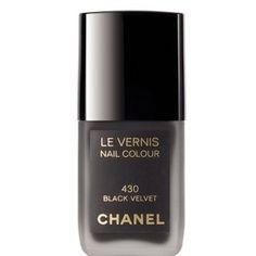 Chanel Black Velvet nail polish.