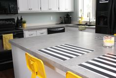 "Wilsonart Pearl Soapstone Laminate Countertop with ""self-edge"""
