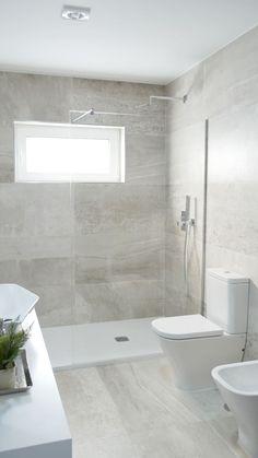 Bathroom Design Small, Bathroom Interior Design, Small Bathrooms, Master Bathrooms, Master Baths, Marble Bathrooms, Master Master, Beautiful Bathrooms, Large Tile Bathroom
