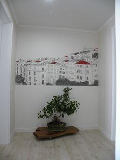 아트폴리 블로그 :: 벽화 벽지 활용 예