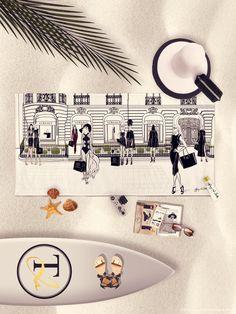VERSACE, Paris - Beach Towel – Tiffany La Belle