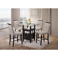 Acme Furniture   Camille Metal Dining Set (Table And 4 Chairs)    AF 10090/10093 | Pinterest | Acme Furniture, Dining Sets And Ceiling