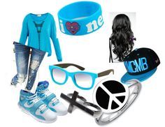 """""""Blue"""" by peacegotdatswag ❤ liked on Polyvore"""