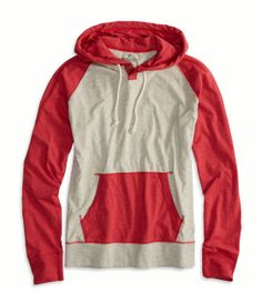 AE Colorblocked Hoodie T-Shirt. Adding this to my wardrobe. Love employee discount :)