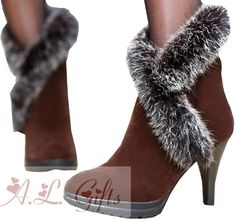 Sexy Brown Round Toe 3 Inch Heel Ankle Boots