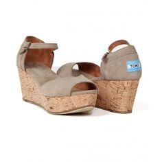 Platform Wedge, Womens Toms, True Love, Taupe, Socks, Wedges, Shopping, Fashion, Real Love