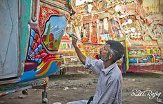 Mini Bus, Truck Art, Indigenous Art, Art Forms, Vivid Colors, Pakistani, Trucks, Artist, Painting