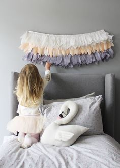 Feather Garland by Poppies for Grace, styled and photographed by Briar Stanley (Sunday Collector). Soooo good.