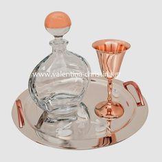 Σετ γάμου σε ροζ χρυσό χρώμα Vase Deco, Vases, Fountain, Barware, Perfume Bottles, Beauty, Invitations, Wedding Ideas, Tableware